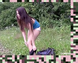 outdoors solo orgasm